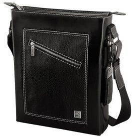 Ferrara Slick and Palm Leather Shoulder Bag