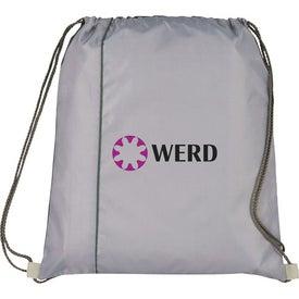 Monogrammed Flip Side Drawstring Cinch Backpack