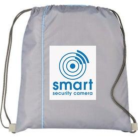 Imprinted Flip Side Drawstring Cinch Backpack