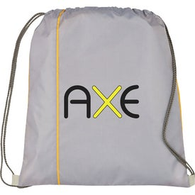 Flip Side Drawstring Cinch Backpack Imprinted with Your Logo