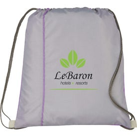 Flip Side Drawstring Cinch Backpack with Your Logo