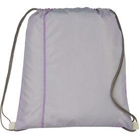 Logo Flip Side Drawstring Cinch Backpack