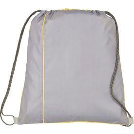 Flip Side Drawstring Cinch Backpack for Advertising