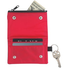 Folding Wallet With Key Ring Imprinted with Your Logo