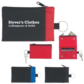 Branded Folding Wallet With Key Ring