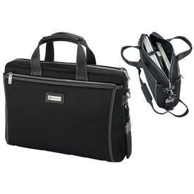 Forli Throw Leather Nylon Briefcase