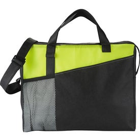 Monogrammed The Full Time Business Brief Bag