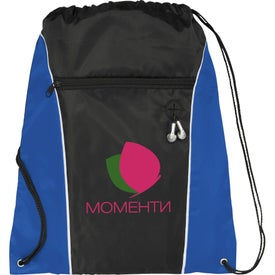 Funnel Drawstring Cinch Backpack for Customization