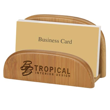 Garde Bamboo Business Card Holder Custom Bags