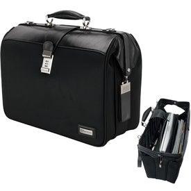 Genova V and V Leather Nylon Computer Document Bag