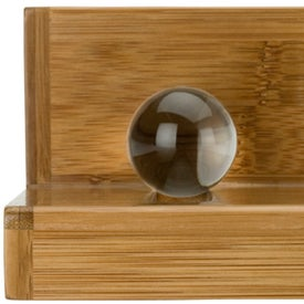 Globe Bamboo Business Card Holder Giveaways