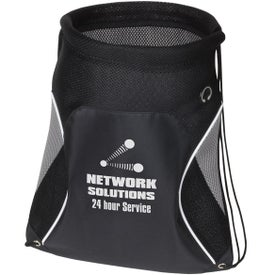 Branded Globetrotter Drawstring Backpack