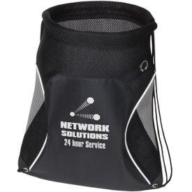 Branded Globetrotter Drawstring Backpack