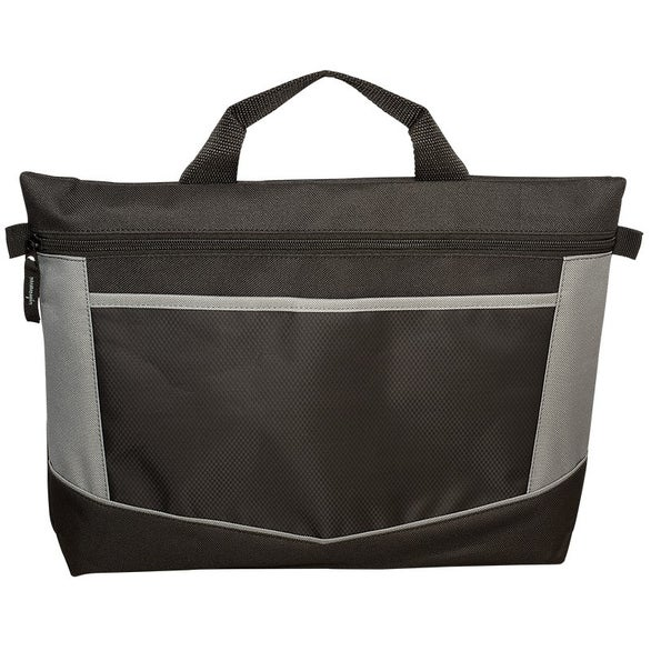 Black / Gray Go-Fer Lightweight Polyester Briefcase