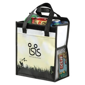 Green Grass Laminated Non Woven Inspire Lunch Bag for Advertising