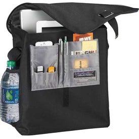 Printed Gridlock Vertical Compu-Messenger Bag