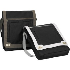 Custom Grommet Toggle Vertical Messenger Bag