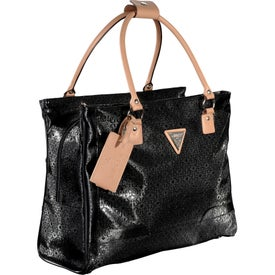 Guess Frosted Shopper Travel Tote Bag