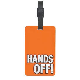 Imprinted Hands Off Luggage Tag
