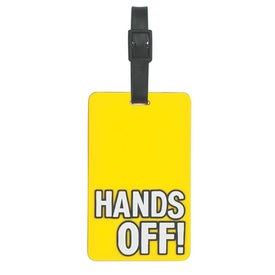Hands Off Luggage Tag for Customization
