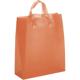 Hercules Frosted Brite Shopper Bag Imprinted with Your Logo