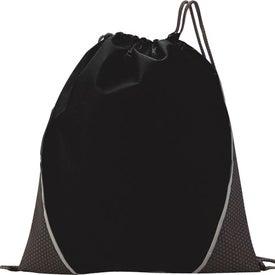 Custom Hexagon Print Drawstring Backpack