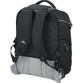 Monogrammed High Sierra Powerglide Wheeled Compu-Backpack