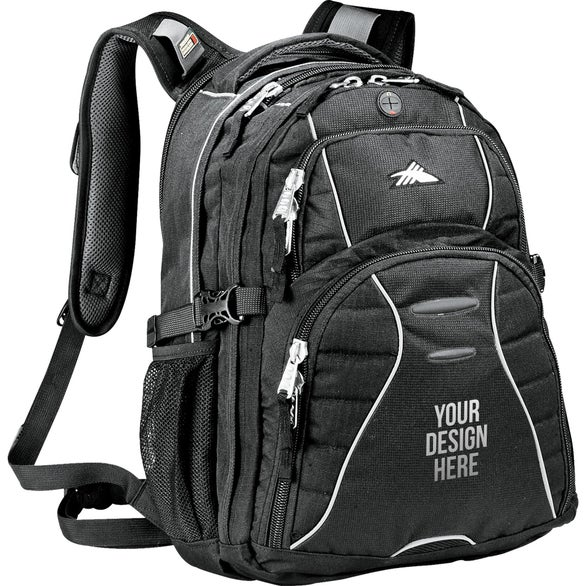 Black High Sierra Swerve Compu-Backpack