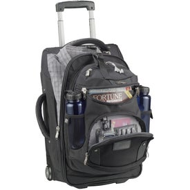 """High Sierra 22"""" Wheeled Carry-On with Removable Day Pack Imprinted with Your Logo"""
