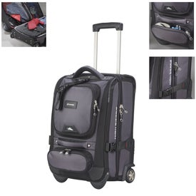 "Imprinted High Sierra 21"" Carry Wheeled Duffel"