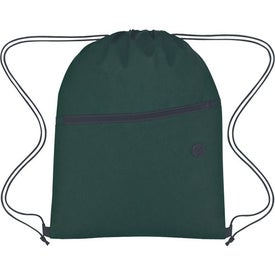 Non-Woven Hit Sports Pack With Front Zipper Imprinted with Your Logo
