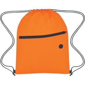Non-Woven Hit Sports Pack With Front Zipper for Promotion