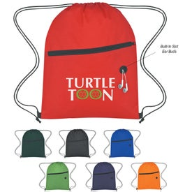 Imprinted Non-Woven Hit Sports Pack With Front Zipper