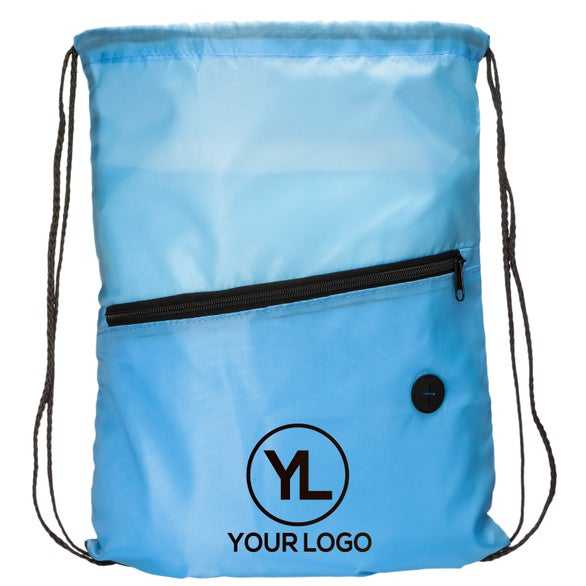 Light Blue Hit Sports Pack with Front Zipper