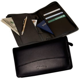 Customized Hoboken Zip-Around Document Holder