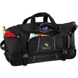 High Sierra Elevate Drop Bottom Wheeled Duffel for Marketing