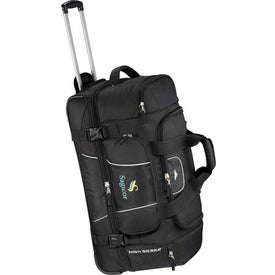 High Sierra Elevate Drop Bottom Wheeled Duffel Branded with Your Logo
