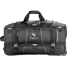Advertising High Sierra Elevate Drop Bottom Wheeled Duffel