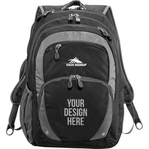 Black High Sierra Overtime Fly-By Compu-Backpack