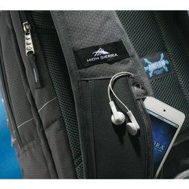 Imprinted High Sierra Vortex Fly-By Compu-Backpack