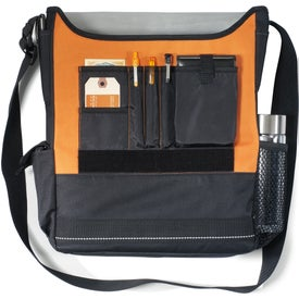 Impact Vertical Computer Messenger Bag Printed with Your Logo