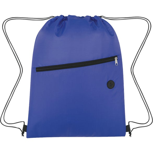Blue Insulated Drawstring Sports Pack