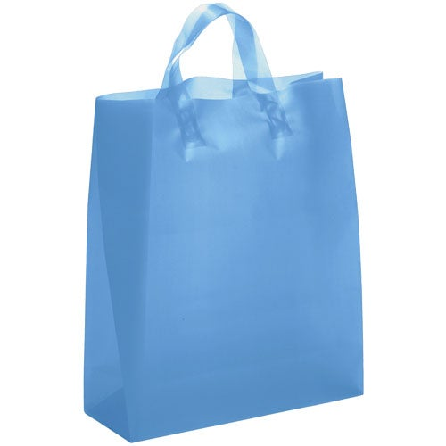 Blue Iris Frosted Brite Shopper Bag