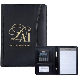 Personalized Jr. Executive Crescent Calculator Padfolio