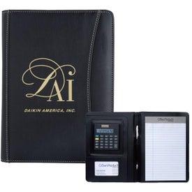 Personalized Jr. Executive Crescent Calculator Padfolio