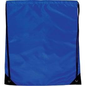 Monogrammed Jumbo Drawstring Backpack