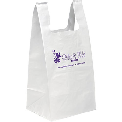 White Jumbo Takeout Bag