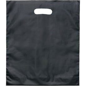 Custom Juno Frosted Brite Die Cut Bag
