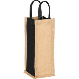 Jute Single Bottle Wine Tote Bag
