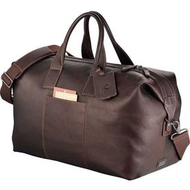 Monogrammed Kenneth Cole Colombian Leather Weekender Duffel